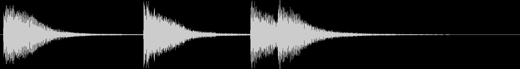 ピアノジングル 幼児向けアニメ系D-01の未再生の波形