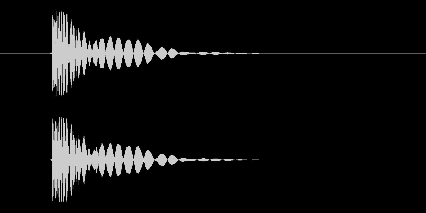 ヒット音(蹴る-1 打撃のインパクト音)の未再生の波形