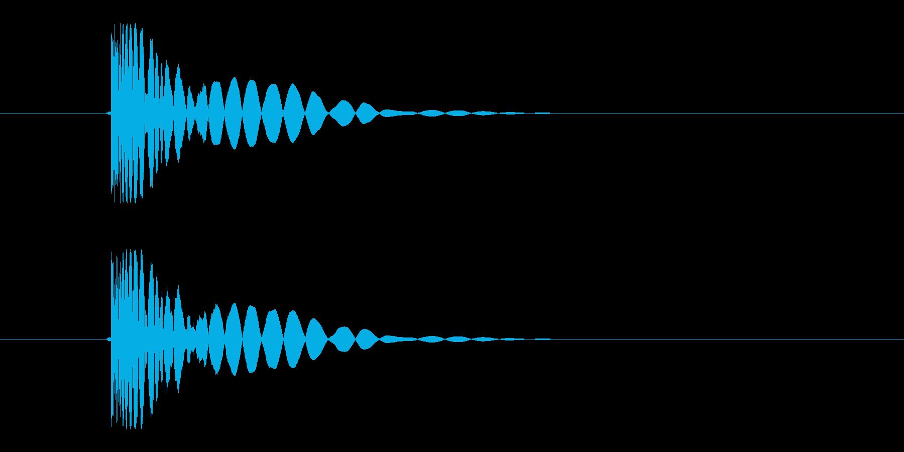 ヒット音(蹴る-1 打撃のインパクト音)の再生済みの波形