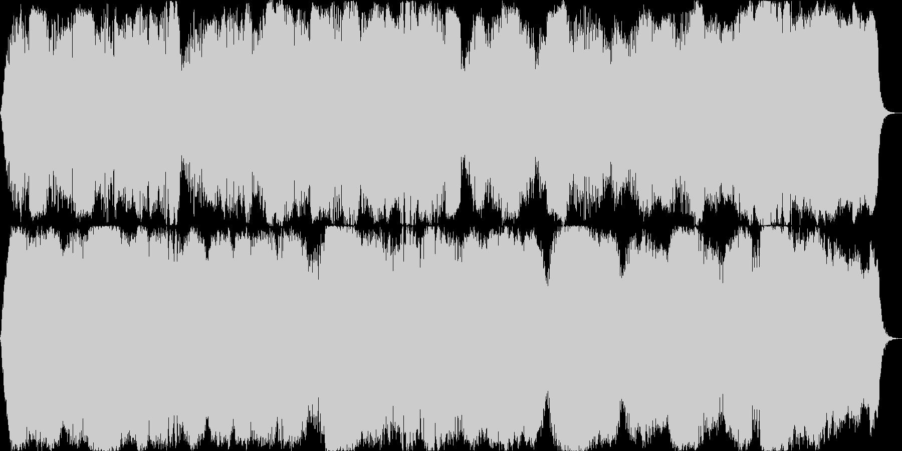 ダークで怖いホラー向けなBGMの未再生の波形