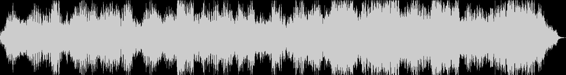 不気味で不穏な雰囲気のあるアンビエント曲の未再生の波形
