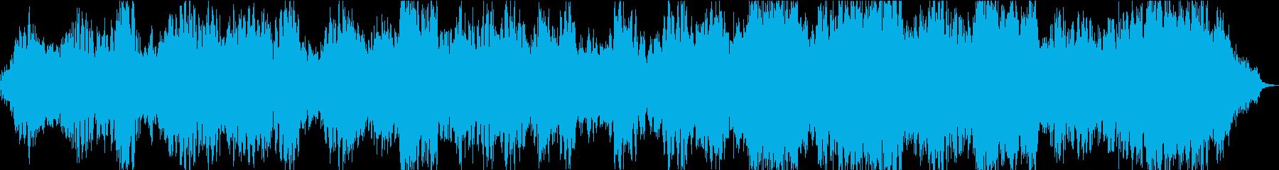 不気味で不穏な雰囲気のあるアンビエント曲の再生済みの波形