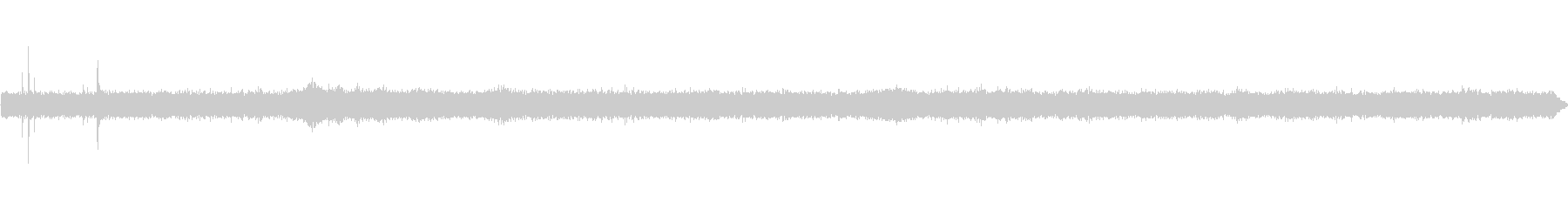 商店街の環境音の未再生の波形