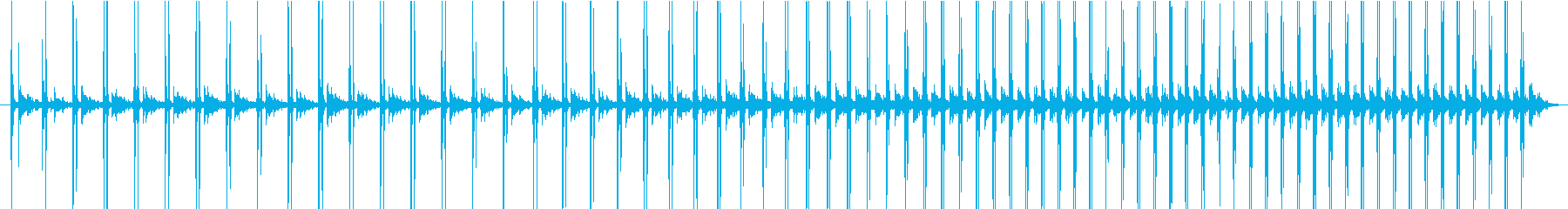トンネルの中で早歩きになる音の再生済みの波形