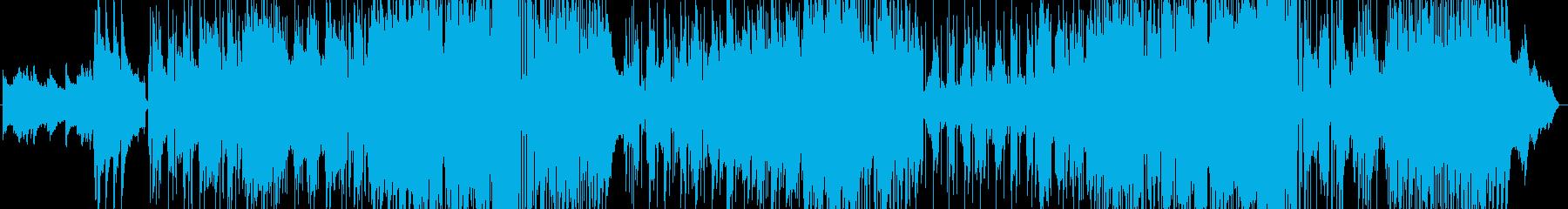 ギターとサックスの三拍子バラードの再生済みの波形