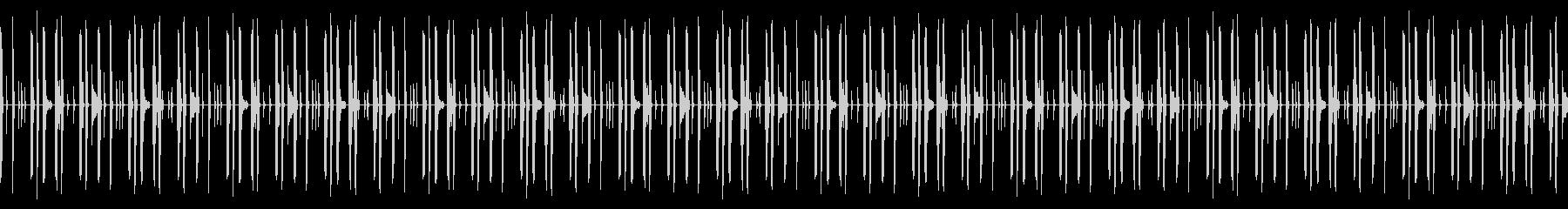 ドラムのみのドライな打ち込みリズムループの未再生の波形