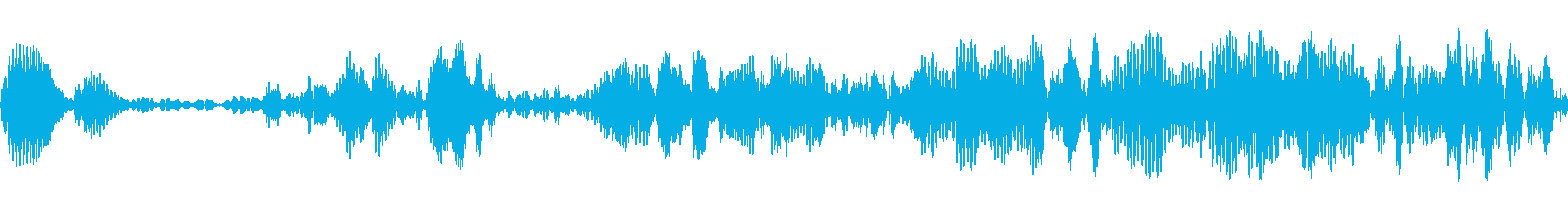 バブルウェイバートランジションの再生済みの波形