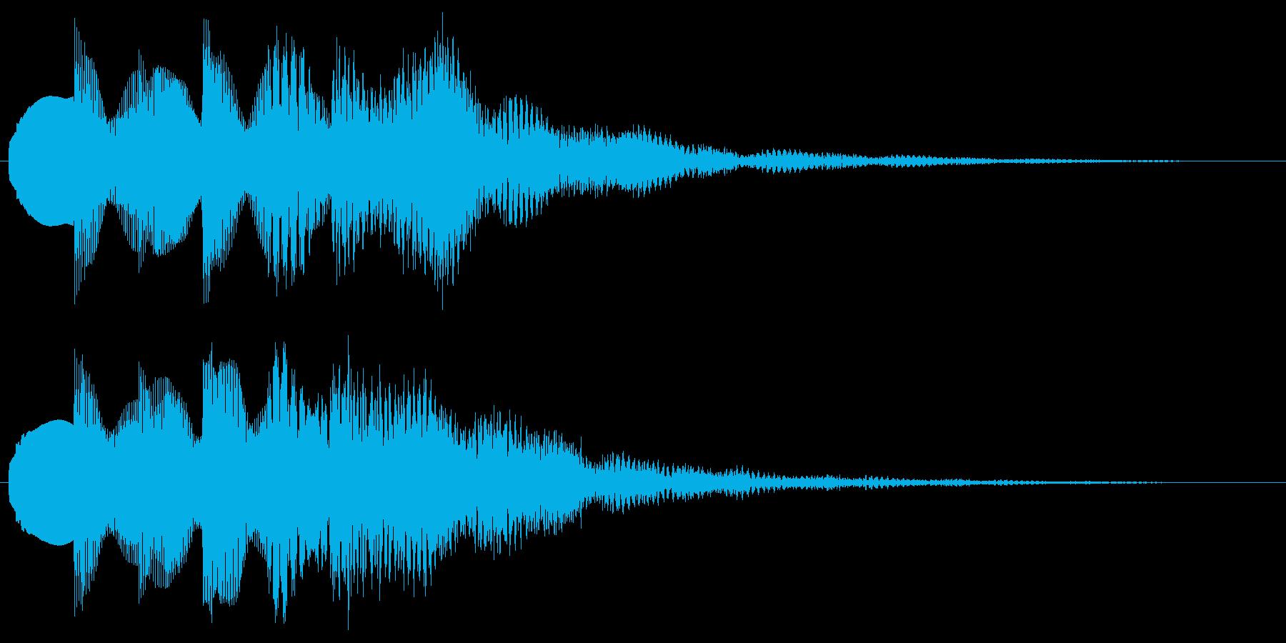 綺麗な音 透明感のあるサウンドロゴの再生済みの波形