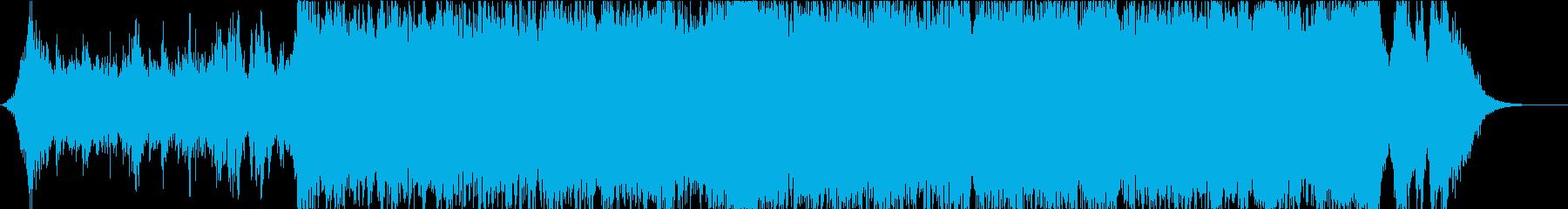 壮大なトレイラーミュージックの再生済みの波形