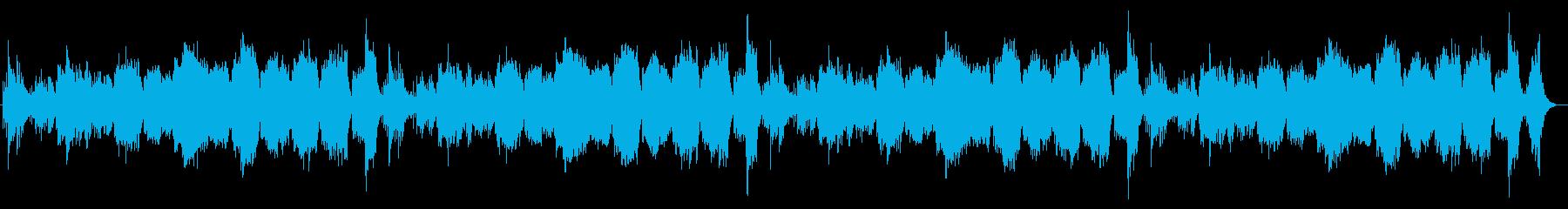 静かに流れるフルートのリラクゼーションの再生済みの波形