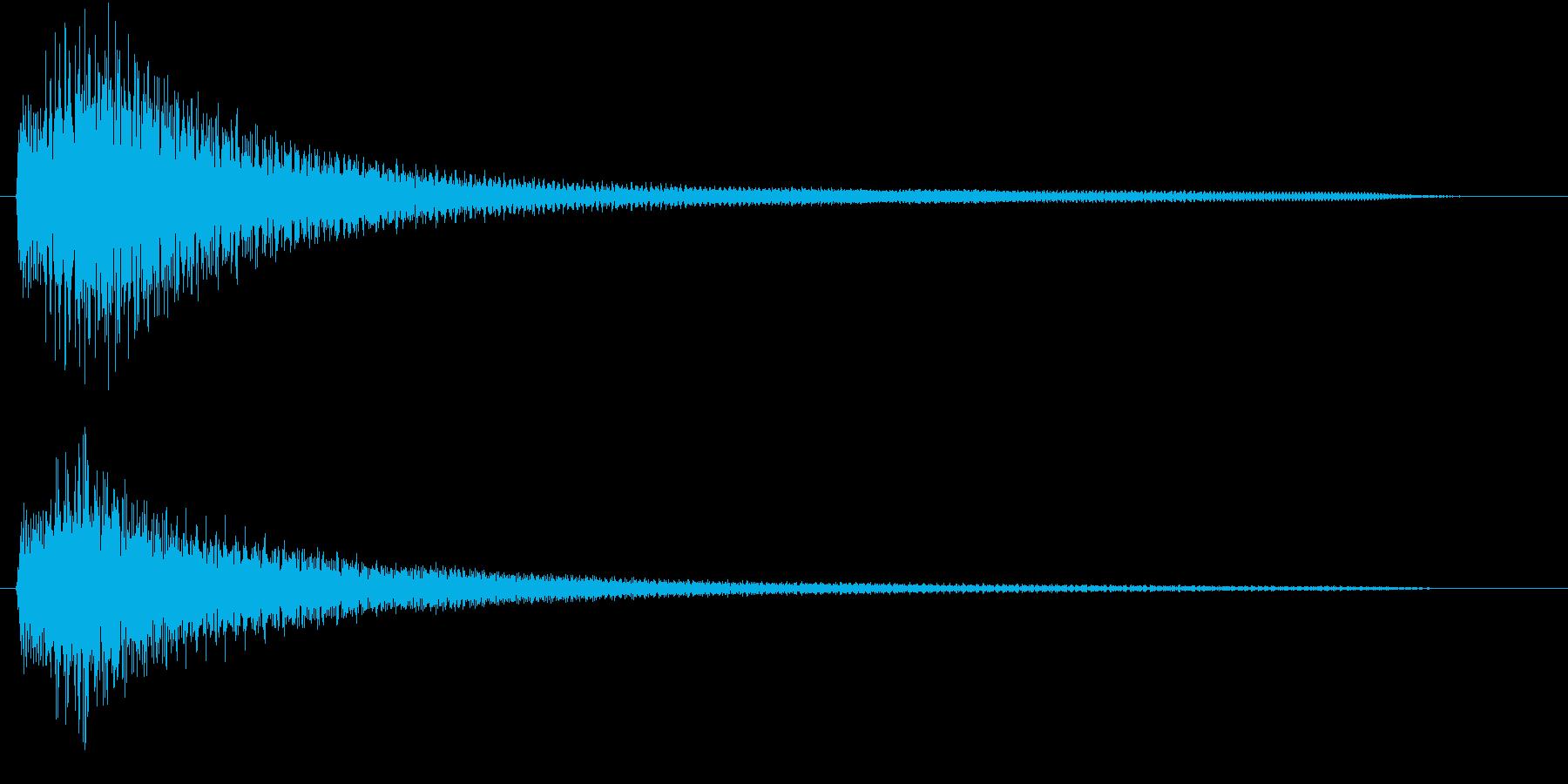ピアノによる分散音の再生済みの波形