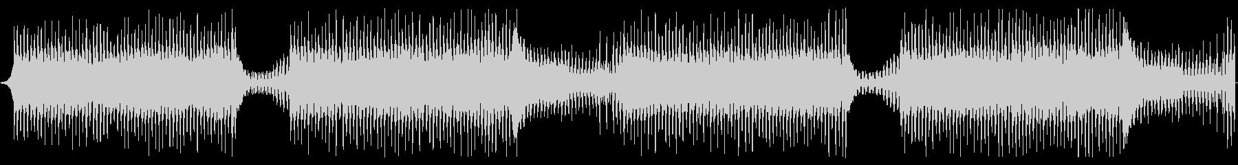 逃走中や追跡中の疾走感のあるBGMの未再生の波形