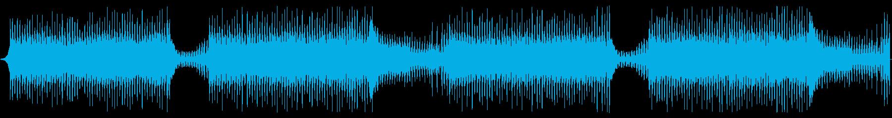 逃走中や追跡中の疾走感のあるBGMの再生済みの波形
