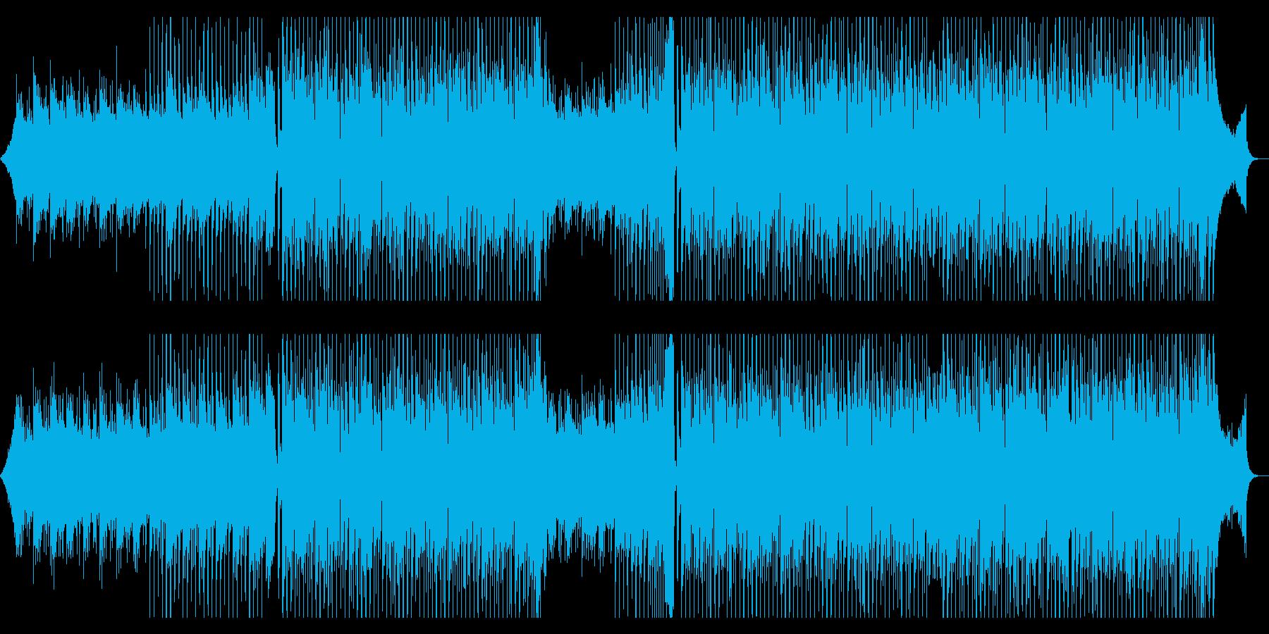 ビビットで明るい躍動感のあるロックBGMの再生済みの波形