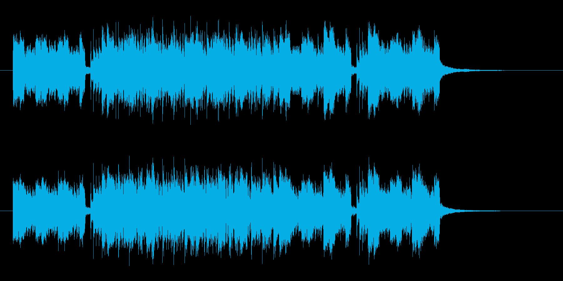 ギターがメインのハードロックの再生済みの波形