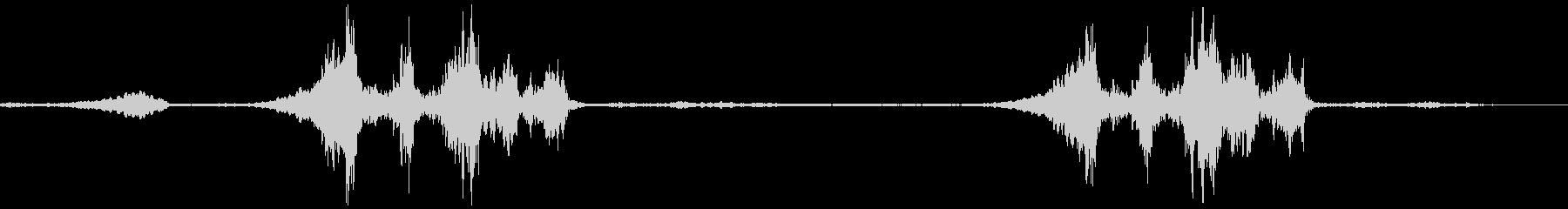 異世界の駅構内の未再生の波形