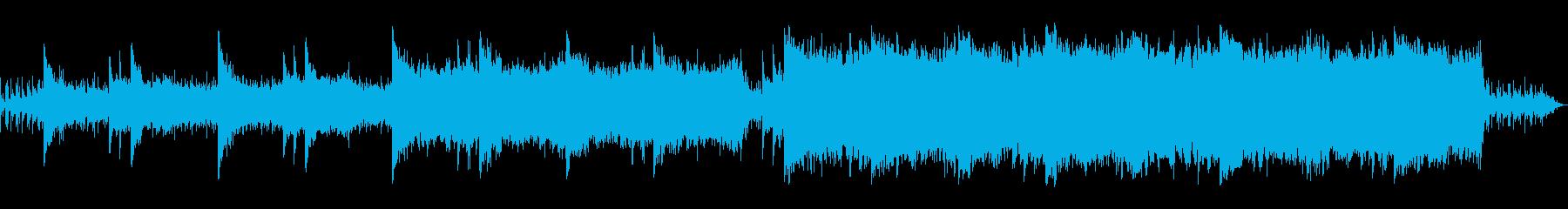 風をイメージしたゲーム・アニメ等に最適曲の再生済みの波形