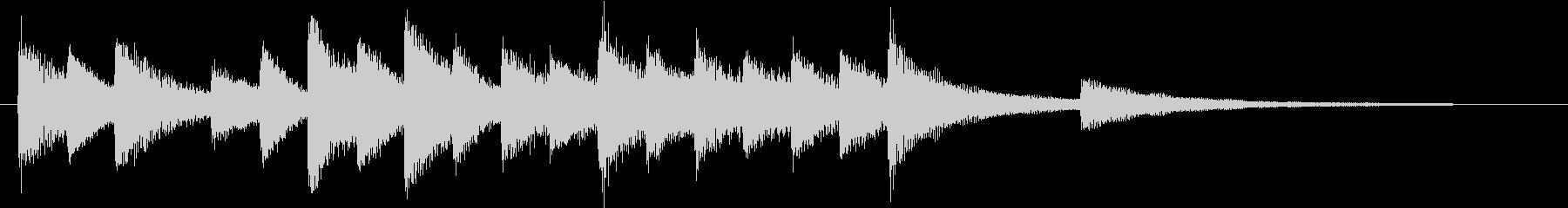 童謡・赤とんぼモチーフのピアノジングルCの未再生の波形