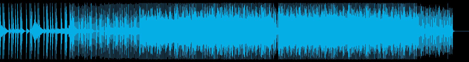 真夜中を感じさせるエモいクラブEDMの再生済みの波形