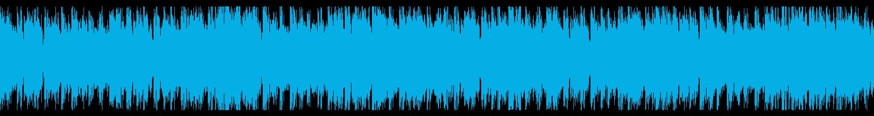 ダークで緊迫した感じのするBGMの再生済みの波形