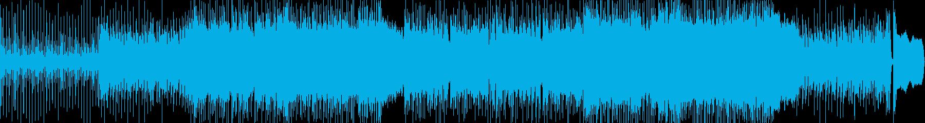 和風の映像、動画CMに。三味線ロック!の再生済みの波形