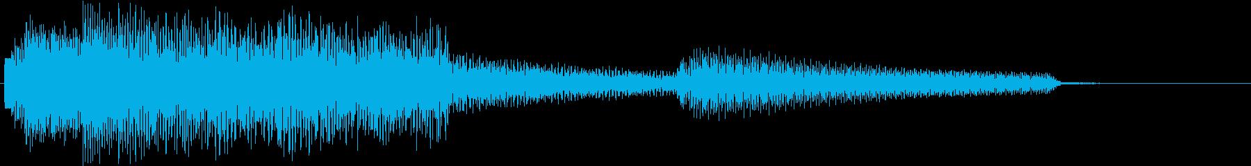 ジャジーでお洒落なエレピのジングルの再生済みの波形