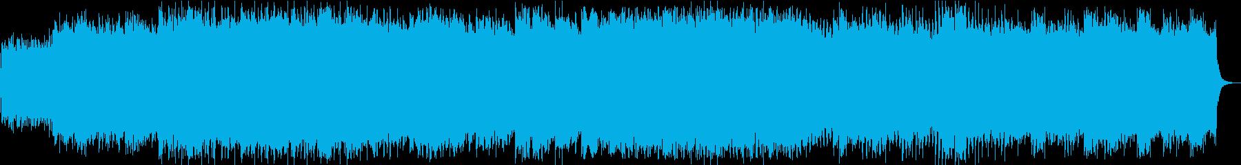ギターのハーモニクスが綺麗なテクノポップの再生済みの波形