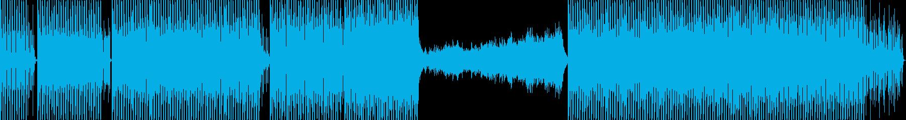 未来的な低音電子トラックの再生済みの波形