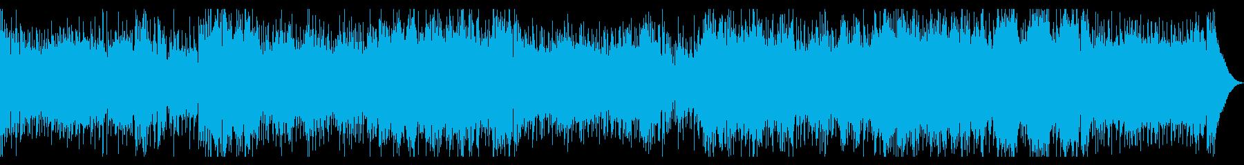 軽快なポップソングの再生済みの波形