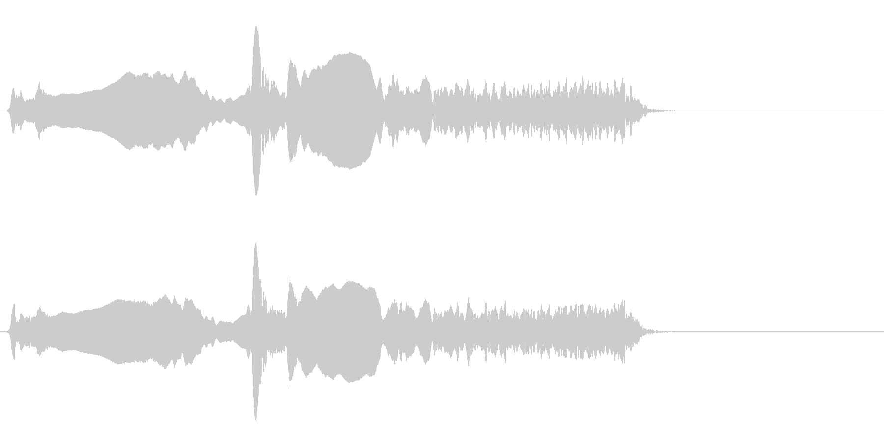 尺八 生演奏 古典風#7の未再生の波形