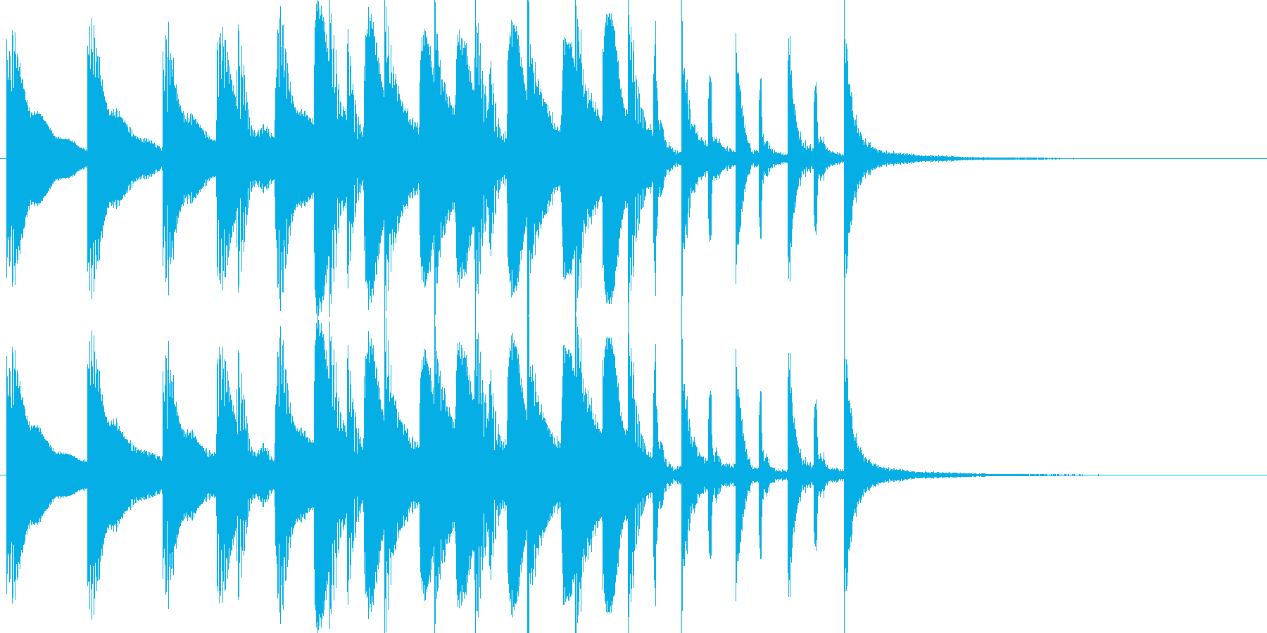 ドラム/ティンバレス フィルイン 22の再生済みの波形
