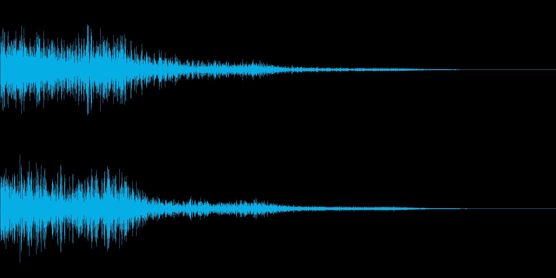【SFX】グリッチSE_12 ガンッ!!の再生済みの波形