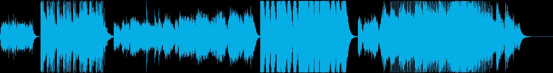 変化の激しいピアノシンセオーケストラの再生済みの波形