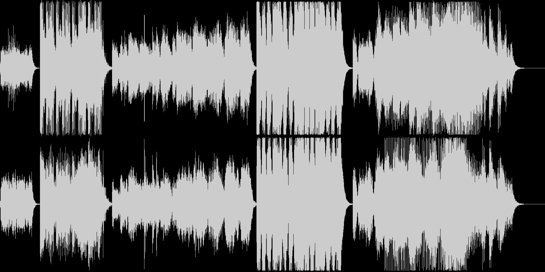 変化の激しいピアノシンセオーケストラの未再生の波形