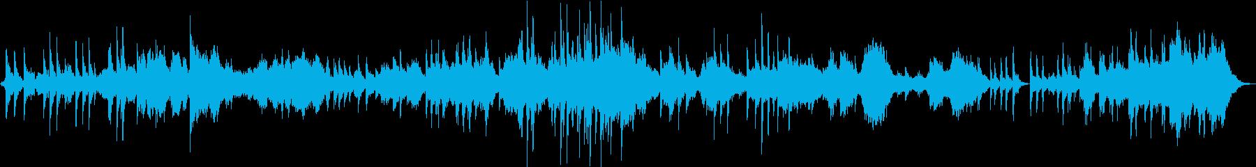 ピアノ、シンセ中心の癒し系アンビエントの再生済みの波形