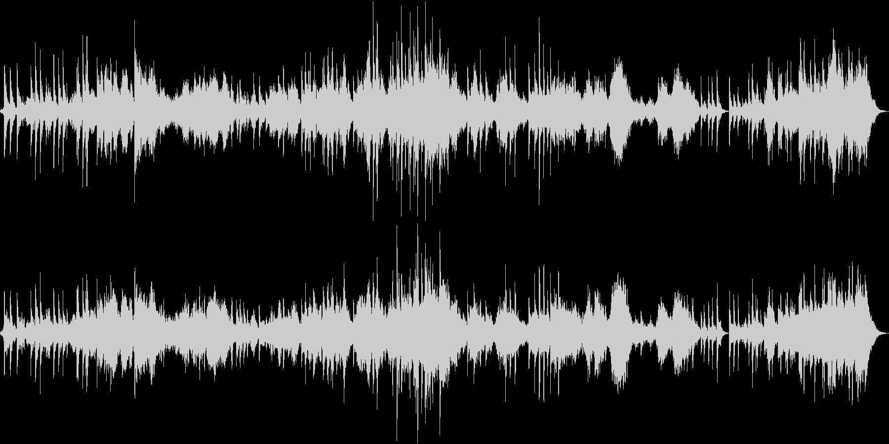 ピアノ、シンセ中心の癒し系アンビエントの未再生の波形