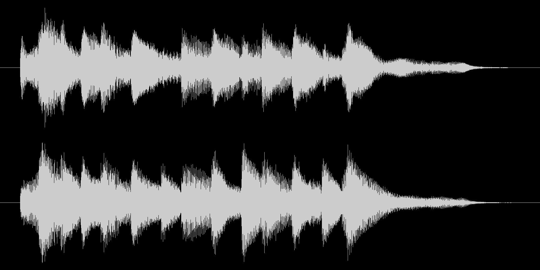 爽やかなピアノジングル 5秒の未再生の波形