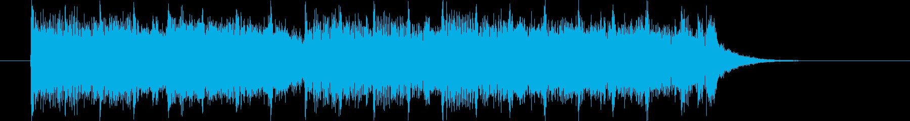 軽やかで爽やかなシンセサウンド短めの再生済みの波形