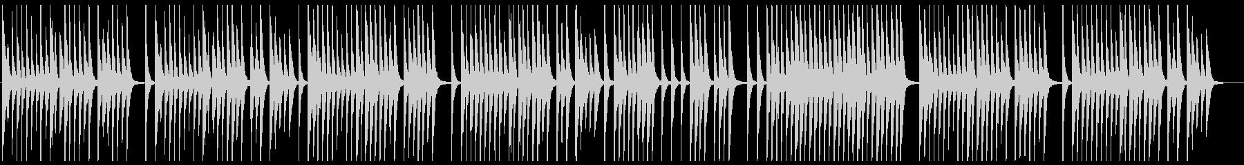 哀愁のあるバイオリン(ピチカート奏法)の未再生の波形