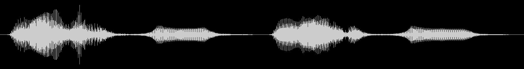 バルブホーン、ツーホンクスの未再生の波形