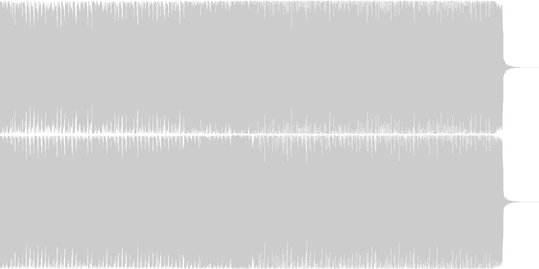 【EDM風】爽やか、ポップなCM、BGMの未再生の波形