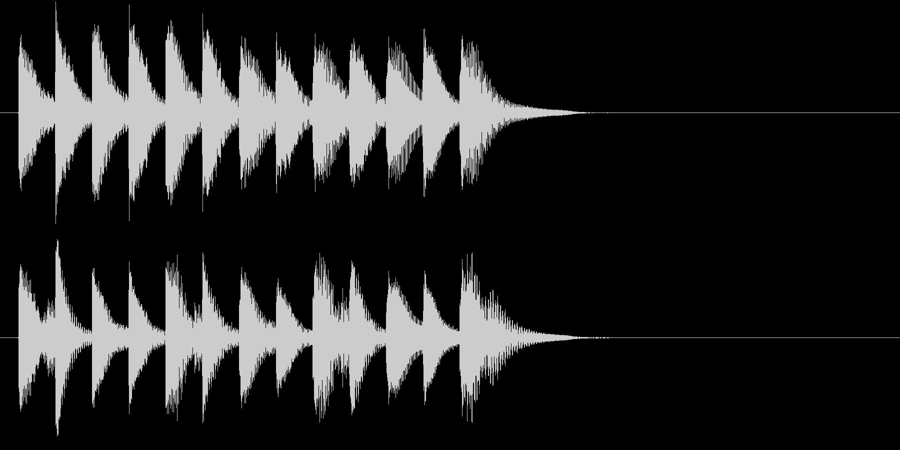失敗したときに流れてきそうなジングルの未再生の波形