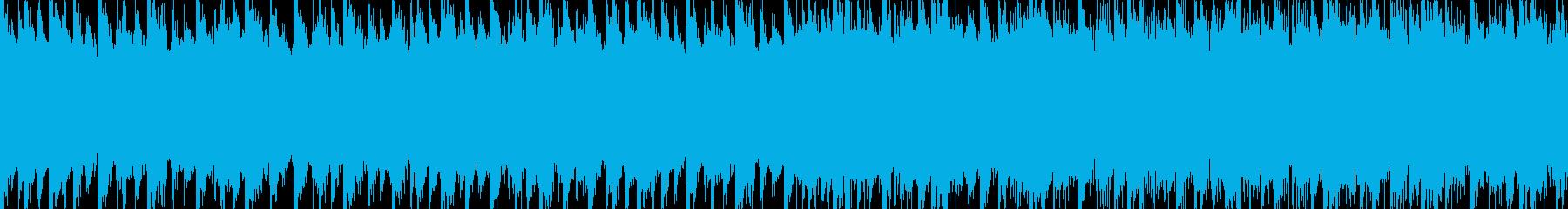 スケールの大きいピアノメインのBGMの再生済みの波形
