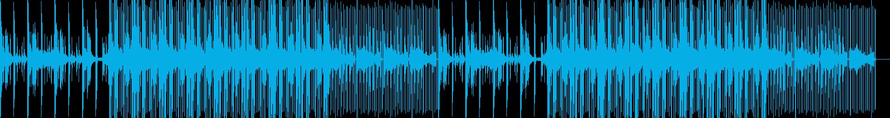 ギターカッティングのハウスミュージックの再生済みの波形