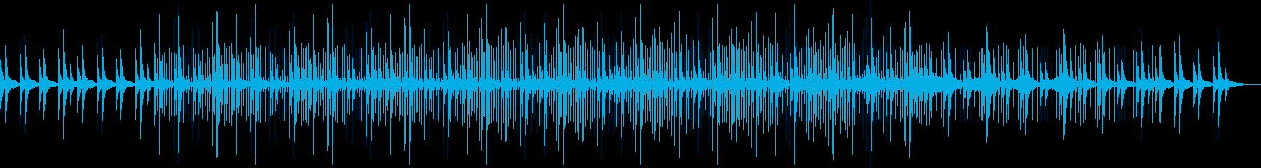 孤独で可愛いミニマル曲の再生済みの波形