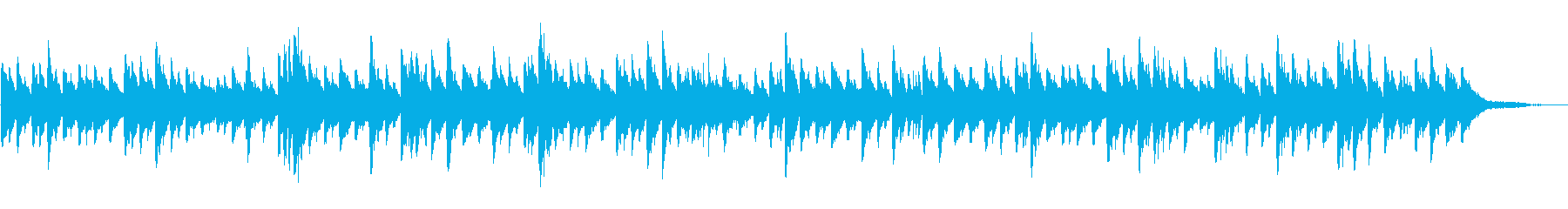 とても優しく癒されるピアノ曲の再生済みの波形