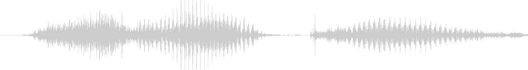 サンキューの未再生の波形