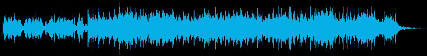 青空の下でのんびり過ごすイメージの音楽の再生済みの波形