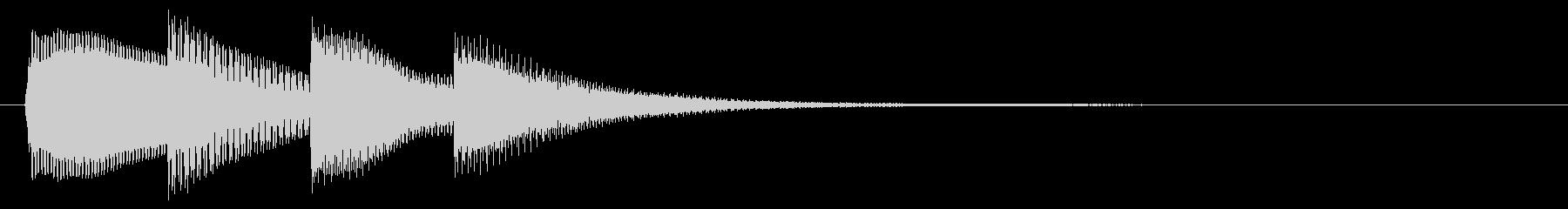 お知らせ/タラララン/テロップの未再生の波形
