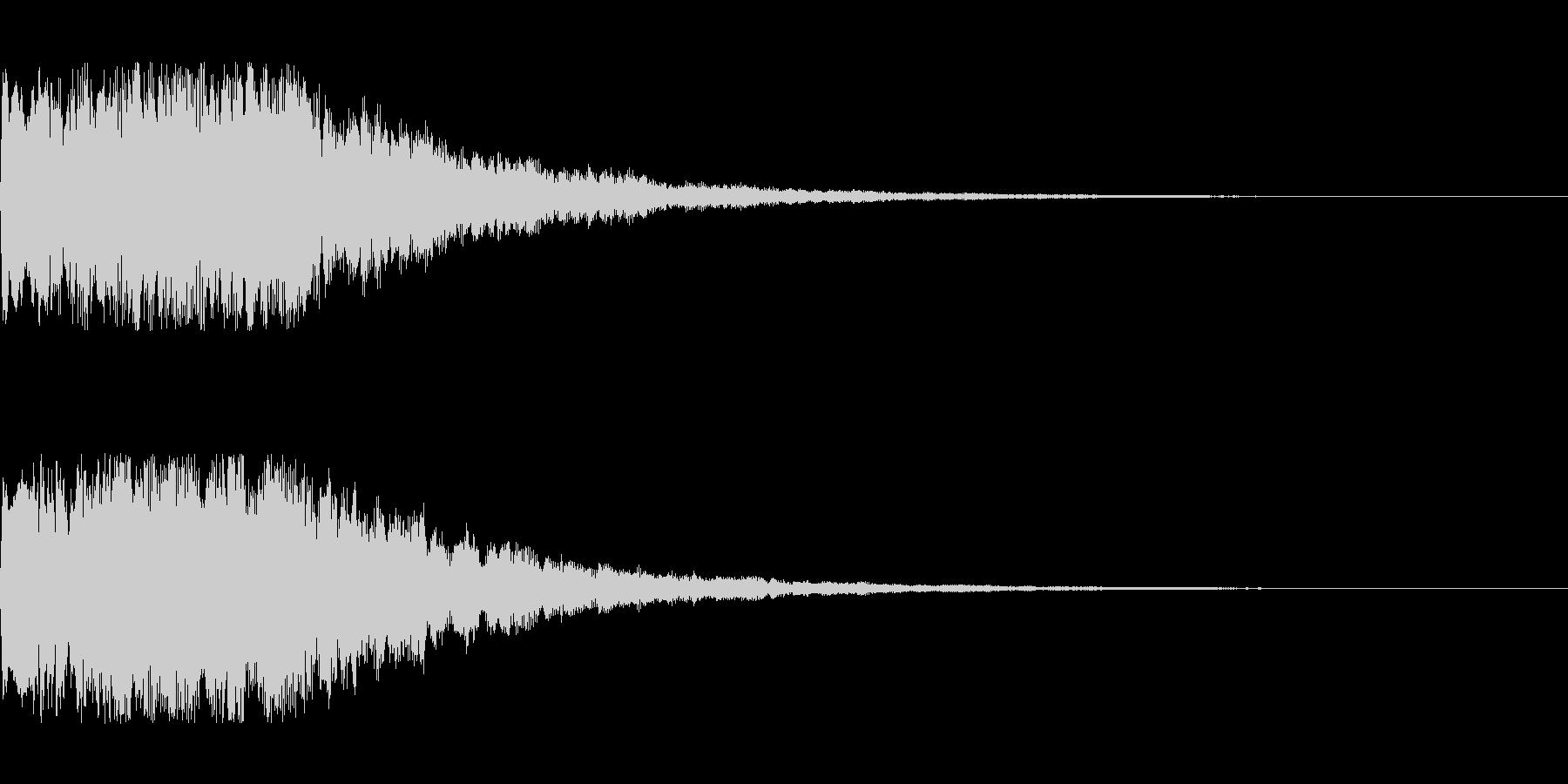 明るいシンセサイザー 決定音1の未再生の波形